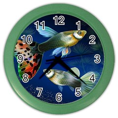 Marine Fishes Color Wall Clocks