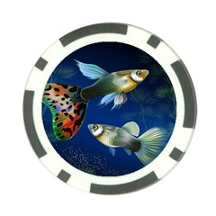 Marine Fishes Poker Chip Card Guard