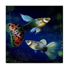 Marine Fishes Face Towel
