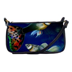 Marine Fishes Shoulder Clutch Bags