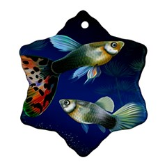 Marine Fishes Snowflake Ornament (Two Sides)