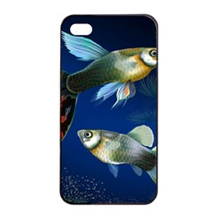 Marine Fishes Apple iPhone 4/4s Seamless Case (Black)