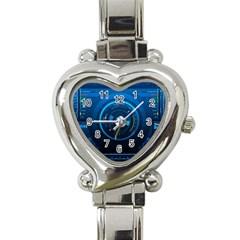 Technology Dashboard Heart Italian Charm Watch