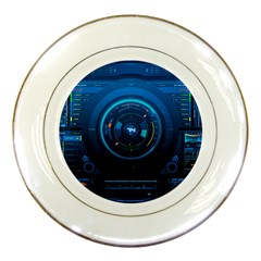Technology Dashboard Porcelain Plates