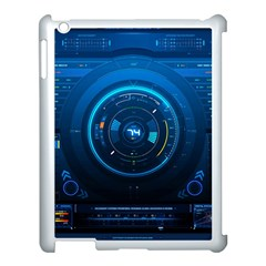 Technology Dashboard Apple iPad 3/4 Case (White)