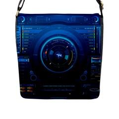 Technology Dashboard Flap Messenger Bag (L)