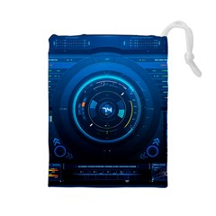Technology Dashboard Drawstring Pouches (Large)