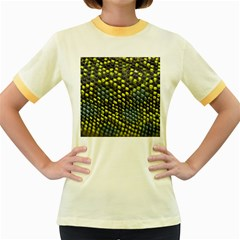 Lizard Animal Skin Women s Fitted Ringer T-Shirts