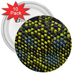 Lizard Animal Skin 3  Buttons (10 pack)