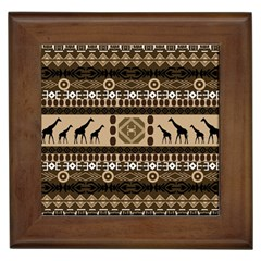 Giraffe African Vector Pattern Framed Tiles