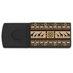 Giraffe African Vector Pattern USB Flash Drive Rectangular (1 GB)