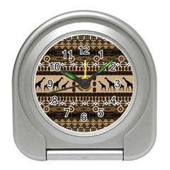 Giraffe African Vector Pattern Travel Alarm Clocks