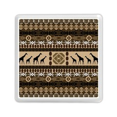 Giraffe African Vector Pattern Memory Card Reader (Square)