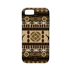Giraffe African Vector Pattern Apple iPhone 5 Classic Hardshell Case (PC+Silicone)