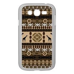 Giraffe African Vector Pattern Samsung Galaxy Grand DUOS I9082 Case (White)