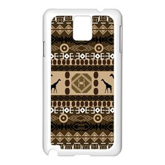 Giraffe African Vector Pattern Samsung Galaxy Note 3 N9005 Case (White)