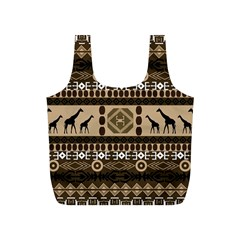 Giraffe African Vector Pattern Full Print Recycle Bags (S)