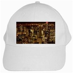 New York City At Night Future City Night White Cap