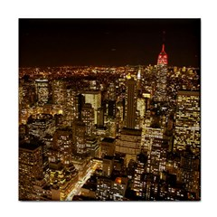 New York City At Night Future City Night Tile Coasters