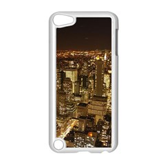 New York City At Night Future City Night Apple iPod Touch 5 Case (White)