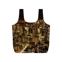 New York City At Night Future City Night Full Print Recycle Bags (S)