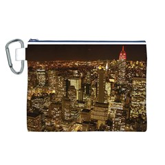 New York City At Night Future City Night Canvas Cosmetic Bag (L)