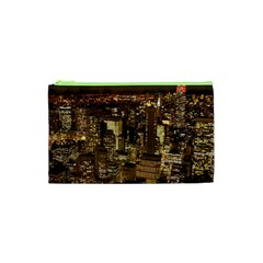New York City At Night Future City Night Cosmetic Bag (XS)