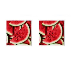 Fresh Watermelon Slices Texture Cufflinks (Square)