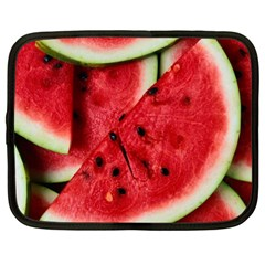 Fresh Watermelon Slices Texture Netbook Case (Large)
