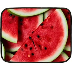 Fresh Watermelon Slices Texture Double Sided Fleece Blanket (Mini)