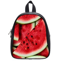 Fresh Watermelon Slices Texture School Bags (Small)