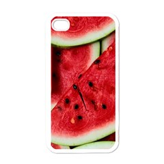 Fresh Watermelon Slices Texture Apple iPhone 4 Case (White)