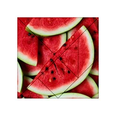 Fresh Watermelon Slices Texture Acrylic Tangram Puzzle (4  x 4 )