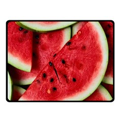 Fresh Watermelon Slices Texture Double Sided Fleece Blanket (Small)
