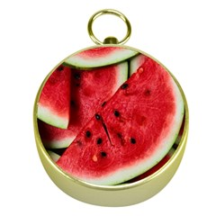 Fresh Watermelon Slices Texture Gold Compasses