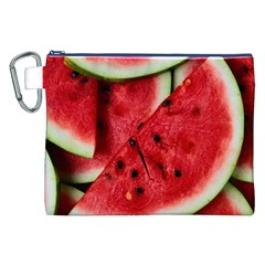 Fresh Watermelon Slices Texture Canvas Cosmetic Bag (XXL)