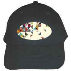 Retro Pattern Of Geometric Shapes Black Cap
