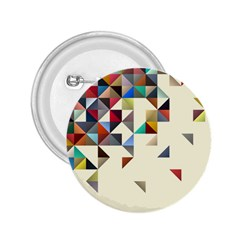 Retro Pattern Of Geometric Shapes 2.25  Buttons