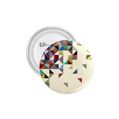 Retro Pattern Of Geometric Shapes 1.75  Buttons