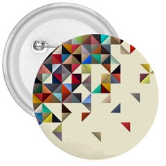 Retro Pattern Of Geometric Shapes 3  Buttons
