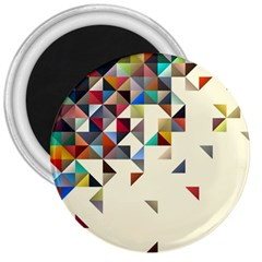 Retro Pattern Of Geometric Shapes 3  Magnets