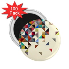 Retro Pattern Of Geometric Shapes 2.25  Magnets (100 pack)