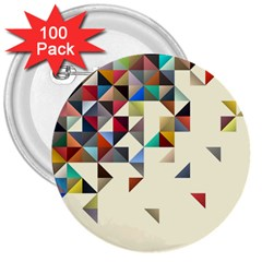 Retro Pattern Of Geometric Shapes 3  Buttons (100 pack)