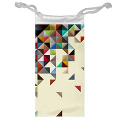 Retro Pattern Of Geometric Shapes Jewelry Bag