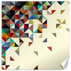 Retro Pattern Of Geometric Shapes Canvas 12  x 12