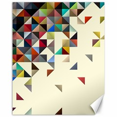 Retro Pattern Of Geometric Shapes Canvas 16  x 20