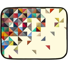 Retro Pattern Of Geometric Shapes Double Sided Fleece Blanket (Mini)