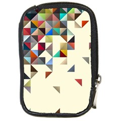 Retro Pattern Of Geometric Shapes Compact Camera Cases