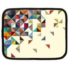 Retro Pattern Of Geometric Shapes Netbook Case (XXL)