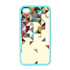 Retro Pattern Of Geometric Shapes Apple iPhone 4 Case (Color)